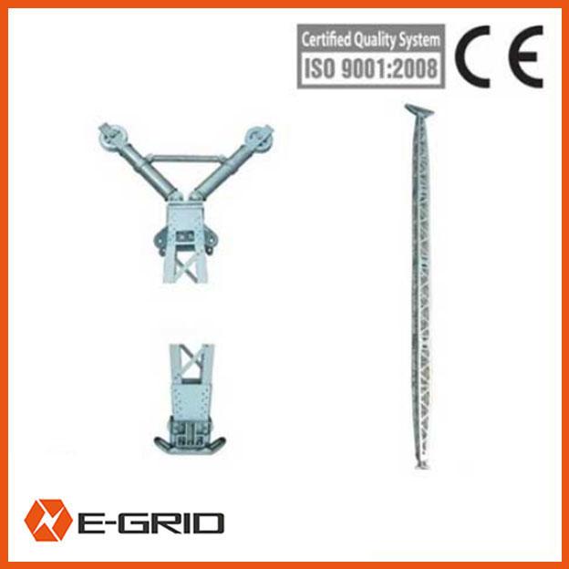 Aluminum alloy gin pole Inner suspended lattice-like