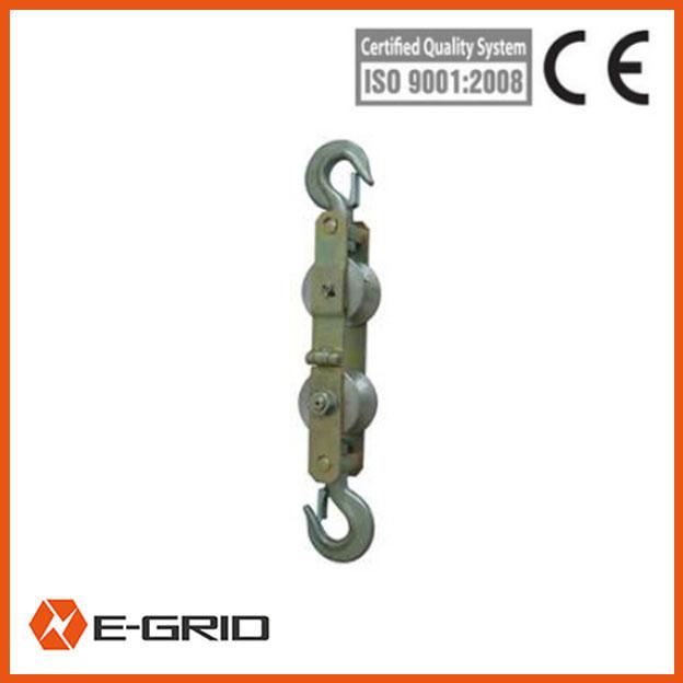 Model SHSS10 anti-lifting hold down pulley blocks for OPGW (Fiber Optical)